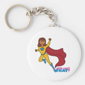 Chica del super héroe llaveros personalizados