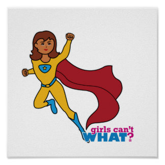 Chica del super héroe impresiones