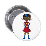Chica del super héroe pin