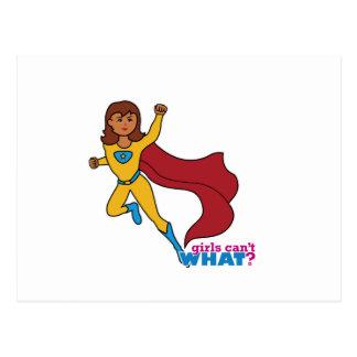 Chica del super héroe postal