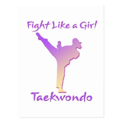 Chica del Taekwondo Tarjetas Postales