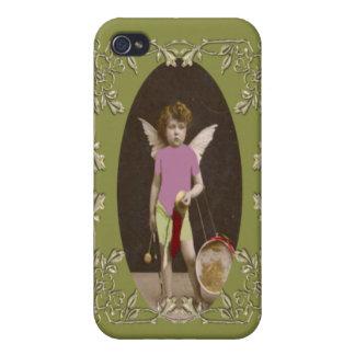 Chica del tambor del ángel iPhone 4/4S carcasas