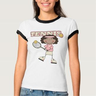 Chica del tenis, afroamericano polera