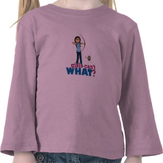 Chica del tiro al arco en el azul - luz camiseta