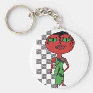 Chica del tomate - Eddie con las vides Llavero Redondo Tipo Pin