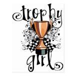 Chica del trofeo postal
