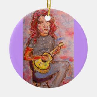 chica del ukulele ornatos
