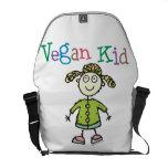 Chica del vegano bolsas messenger