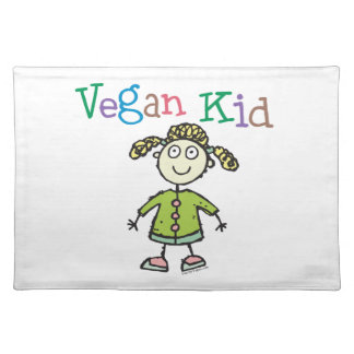Chica del vegano mantel