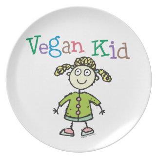 Chica del vegano platos para fiestas