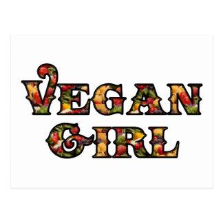 Chica del vegano postal
