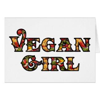 Chica del vegano tarjeta de felicitación