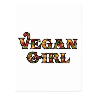 Chica del vegano tarjeta postal