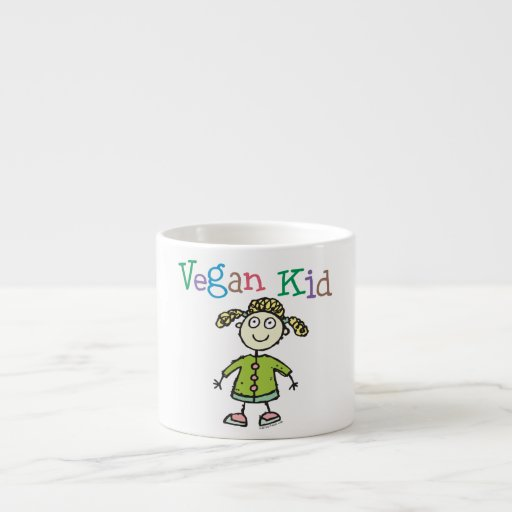 Chica del vegano tazitas espresso