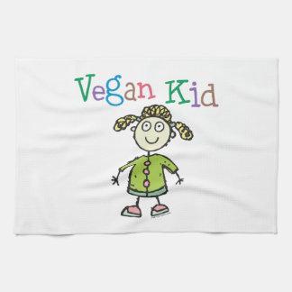 Chica del vegano toallas de cocina