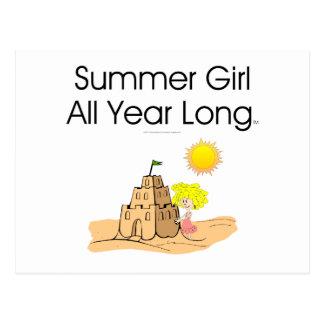 Chica del verano de la CAMISETA Postal
