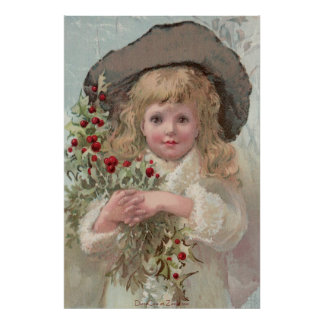 Chica del Victorian con el poster del acebo