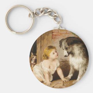 Chica del Victorian y su perro Llavero