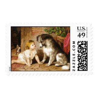 Chica del Victorian y su perro Sello