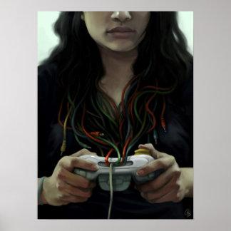 Chica del videojugador (poster/impresión) póster