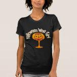 Chica del vino de Halloween Camiseta