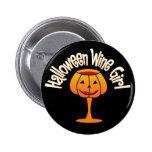 Chica del vino de Halloween Pins