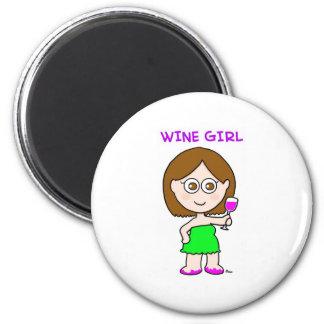 chica del vino iman para frigorífico