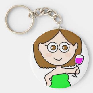 chica del vino llavero