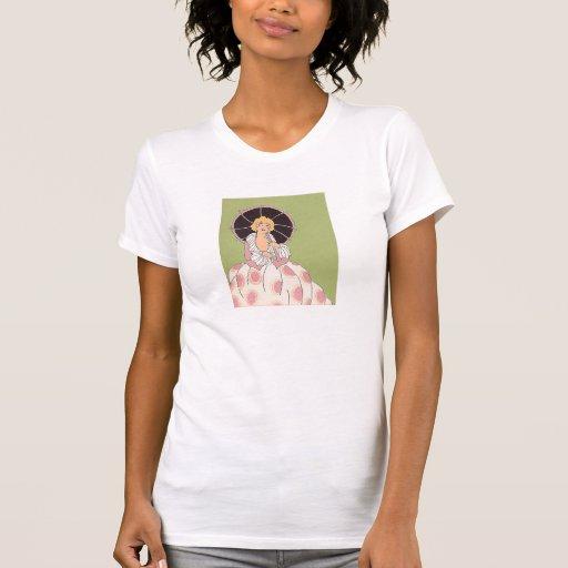 Chica del vintage camiseta