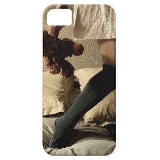 Chica del vintage, caso del oso de peluche iPhone 5 Case-Mate fundas