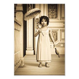 Chica del vintage cojinete