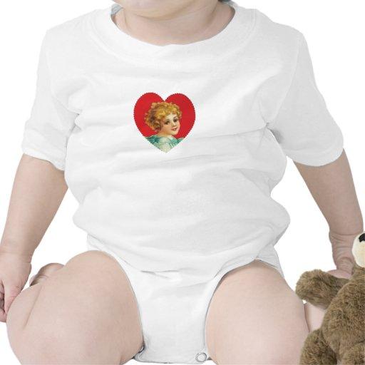 Chica del vintage en el corazón #2 traje de bebé