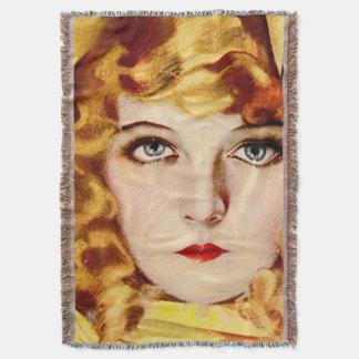 chica del vintage manta