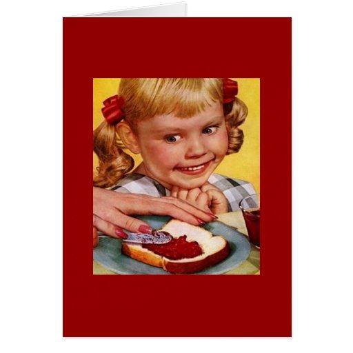 Chica del vintage y bocadillo de la jalea