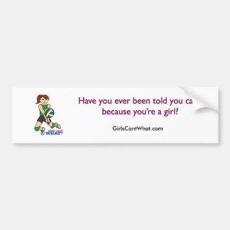 Chica del voleibol pegatina de parachoque
