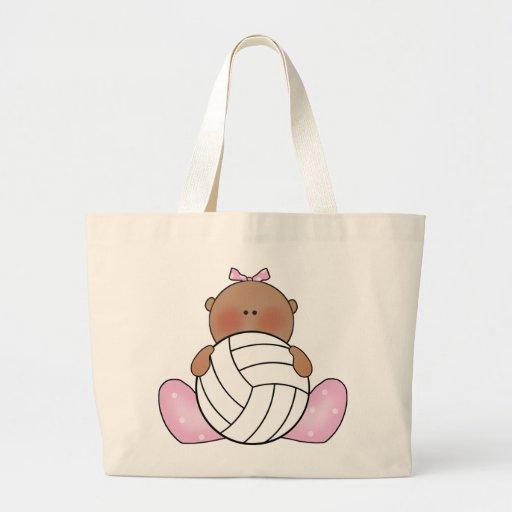 Chica del voleibol de Lil - étnico Bolsas De Mano