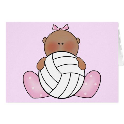 Chica del voleibol de Lil - étnico Tarjeta Pequeña