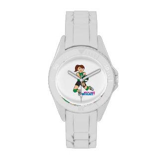 Chica del voleibol relojes de pulsera