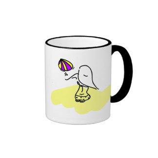 Chica del voleo taza de café