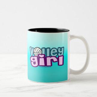 Chica del voleo taza