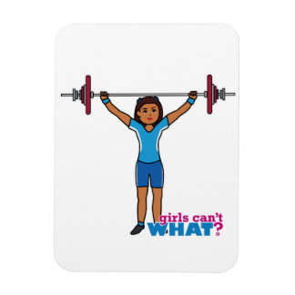 Chica del Weightlifter Imán Rectangular