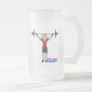 Chica del Weightlifter - luz/Blonde Taza