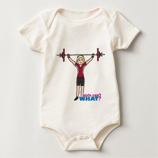 Chica del Weightlifter - luz/Blonde Trajes De Bebé