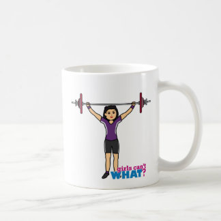 Chica del Weightlifter - medio Taza