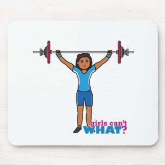 Chica del Weightlifter Mouse Pads