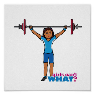Chica del Weightlifter Póster