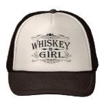 Chica del whisky gorros bordados