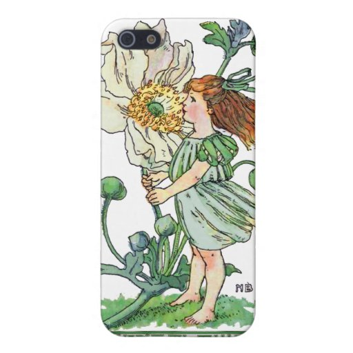 Chica del Windflower iPhone 5 Funda
