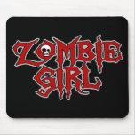 Chica del zombi alfombrilla de ratón