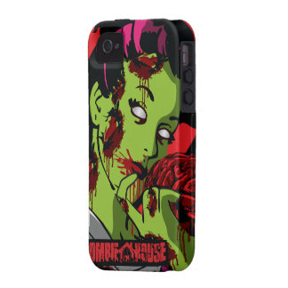Chica del zombi del caso del iPhone 4 del zombi iPhone 4 Funda